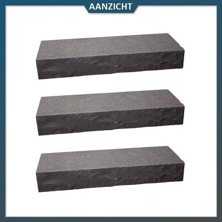 Natuursteenvoordelig Traptrede Vietnamees Basalt 100x35x15 cm