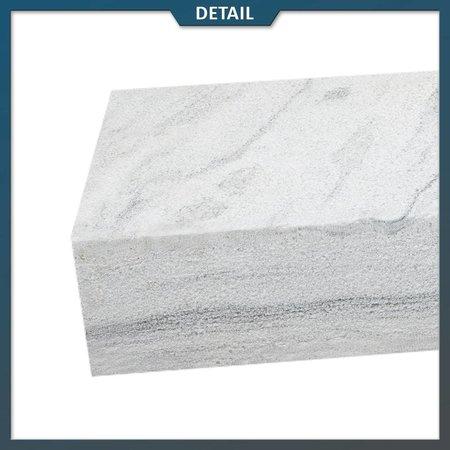 Natuursteenvoordelig Traptrede Kwartsiet Blauw 100x35x15 cm