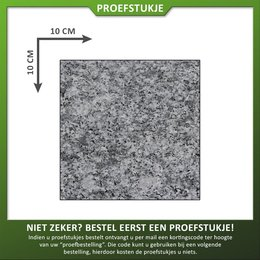 Natuursteenvoordelig Proefstuk Graniet Lichtgrijs Gevlamd/geborsteld