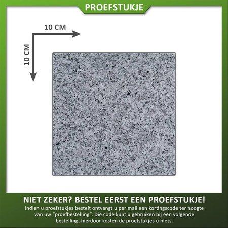 Natuursteenvoordelig Proefstuk Graniet Lichtgrijs Gevlamd