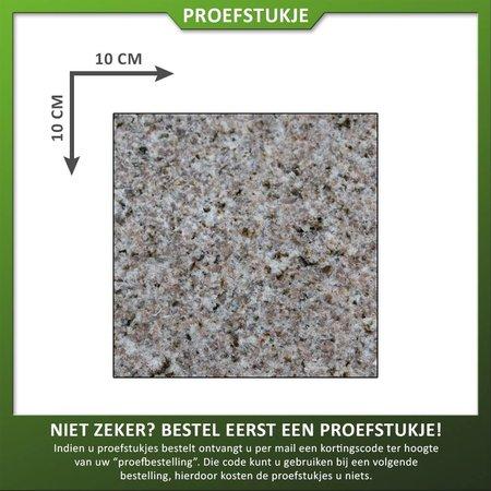 Natuursteenvoordelig Proefstuk Graniet Geel Gevlamd/geborsteld