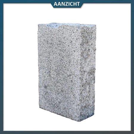Natuursteenvoordelig Palissade Graniet Grijs  Extra 10x25 cm