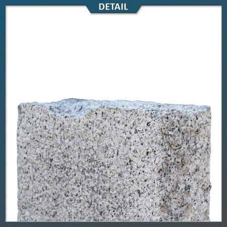 Natuursteenvoordelig Palissade Graniet Grijs 10x25 cm