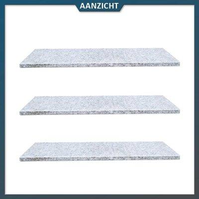 Natuursteenvoordelig Vijverrand Graniet lichtgrijs met facet 100x35x3 cm