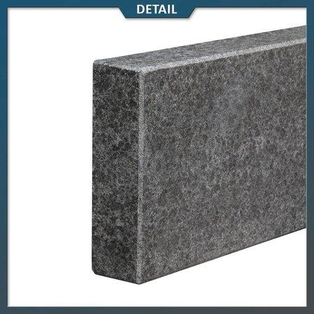 Natuursteenvoordelig Opsluitband Basalt Gevlamd/geborsteld
