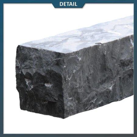Natuursteenvoordelig Stapelblok Vietnamees Hardsteen hoekstuk 8x8x50 centimeter