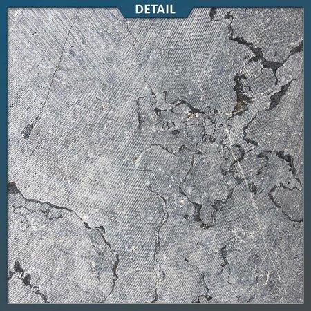 Vietnamees hardsteen getrommeld + gezaagd oppervlak 20x20x3 cm