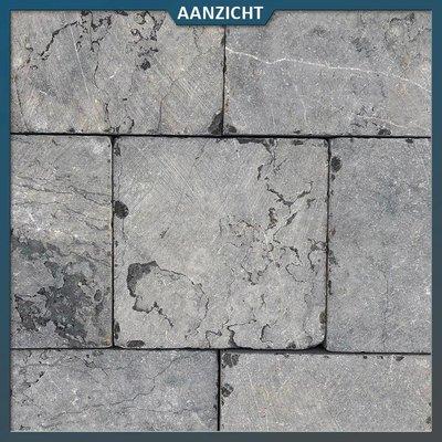 Vietnamees hardsteen getrommeld 20x20x3 cm