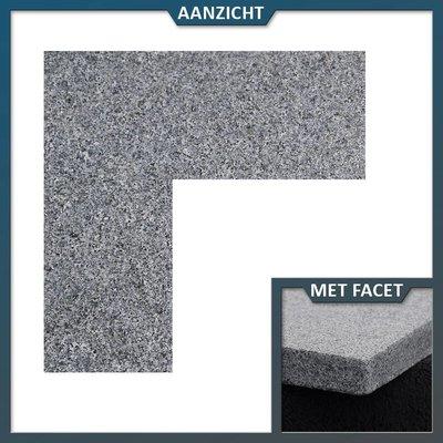 Natuursteenvoordelig Vijverrand Graniet antra hoekstuk