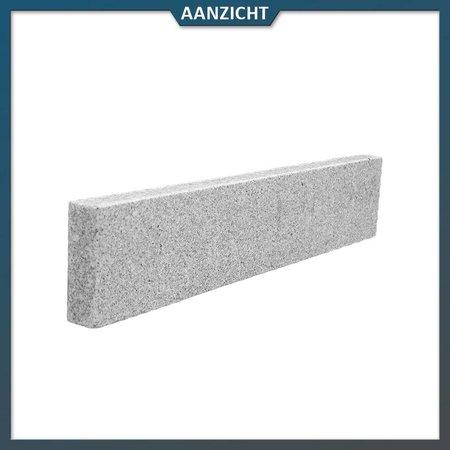 Natuursteenvoordelig Opsluitband Graniet Lichtgrijs gevlamd