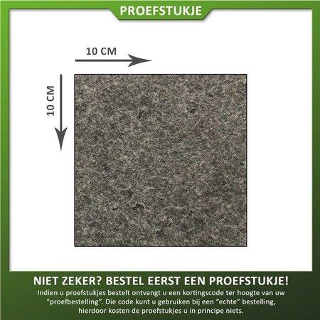 Natuursteenvoordelig Proefstukje graniet Impala gevlamd en geborsteld (graniet zwart)