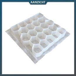 Natuursteenvoordelig Grindplaat wit 120x80x3 cm