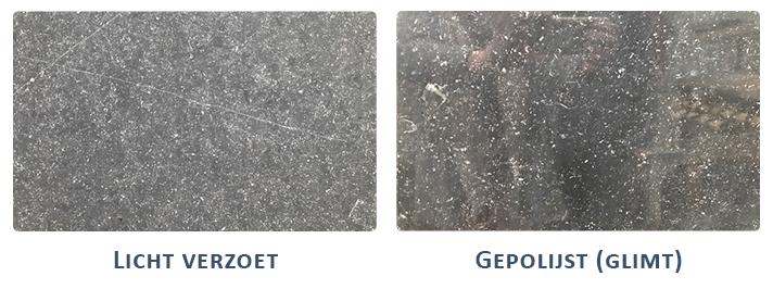 Gepolijst en licht verzoet Belgisch hardsteen