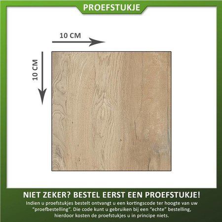 Castelvetro Proefstukje keramische tegel houtlook Aequa Silva