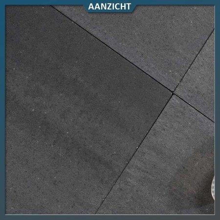 Betontegel Grande Allure Naturelle Grijs/Zwart genuanceerd 50x50x6 cm
