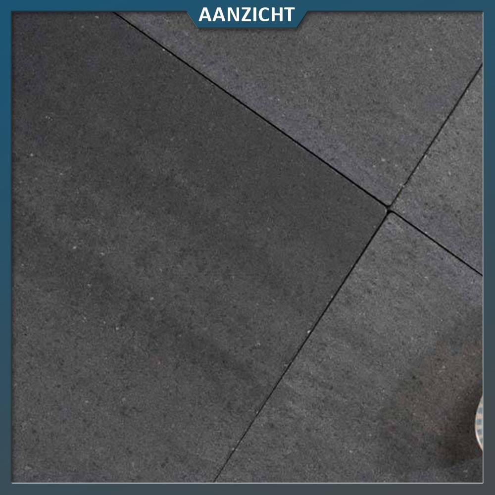 Betontegels 100x100 Zwart.Betontegel Grande Allure Naturelle Grijs Zwart Genuanceerd 50x50x6 Cm
