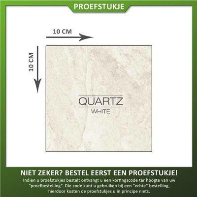 Castelvetro Proefstukje keramische tegel Quartz White