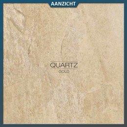 Castelvetro Keramische tegel Quartz Gold 60x60x2 cm
