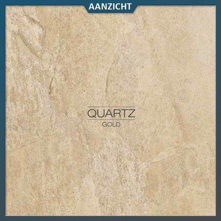 Castelvetro Keramische tuintegel Quartz Gold 60x60x2 cm