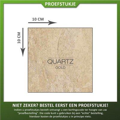 Castelvetro Proefstukje keramische tegel Quartz Gold