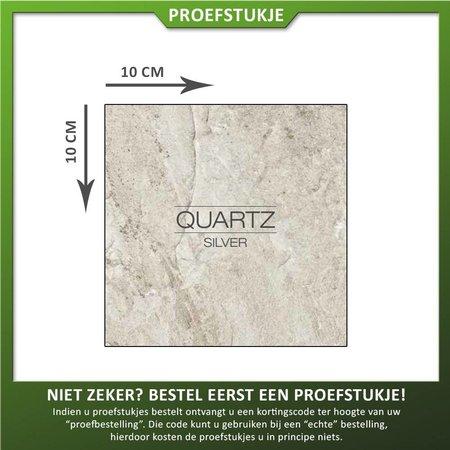 Castelvetro Proefstukje keramische tegel Quartz Silver