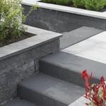 Beton traptreden voor de tuin