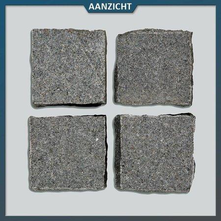 Natuursteenvoordelig Graniet Antraciet Kinderkoppen 10 x 10 x 8 centimeter