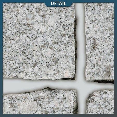 Natuursteenvoordelig Graniet Lichtgrijs Kinderkoppen 10 x 10 x 8 centimeter