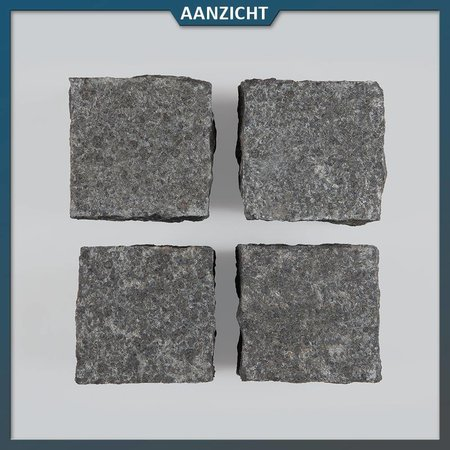 Natuursteenvoordelig Basalt Kinderkoppen 10x10x8 centimeter