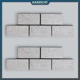 Natuursteenvoordelig Graniet Klinker Lichtgrijs Gevlamd
