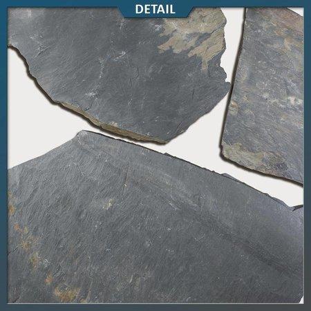 Natuursteenvoordelig Negro Slate Leisteen Flagstones (2-5 cm dik)