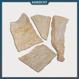 Natuursteenvoordelig Brons Kwartsiet Flagstones