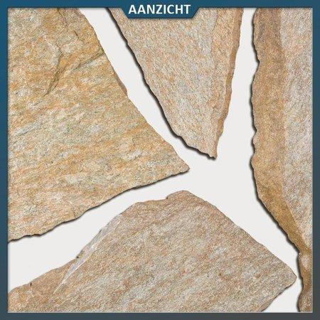 Natuursteenvoordelig Brons Kwartsiet Flagstones (2-3 cm dik)