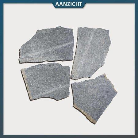 Natuursteenvoordelig Antraciet Kwartsiet Flagstones (2-3 cm dik)