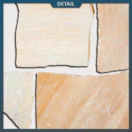 Natuursteenvoordelig Braziliaans Kwartsiet Geel Flagstones (dikte 2,5 - 4 cm)