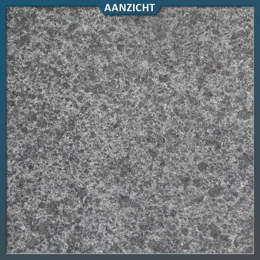 Basalt Tegels Buiten.Basalt G684 Tegel Zwart Gevlamd Geborsteld