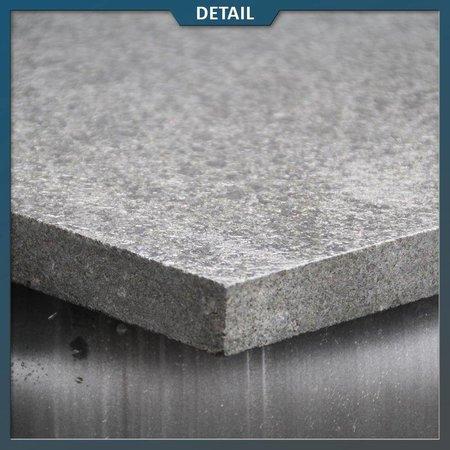 Natuursteenvoordelig Basalt G684 Tegel Zwart Gevlamd/geborsteld