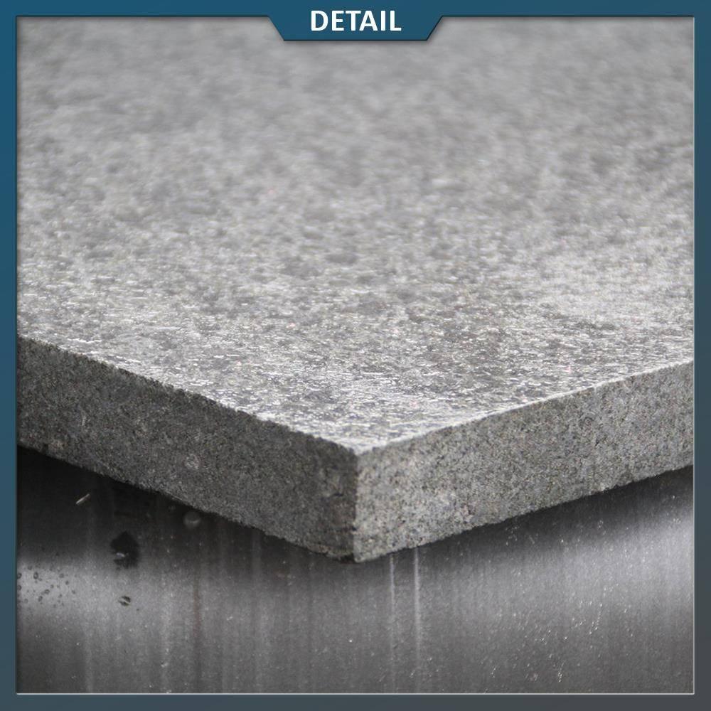 Basalt Tegels 60x60.Basalt G684 Tegel Zwart Gevlamd Geborsteld