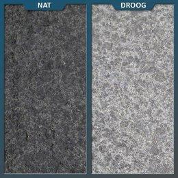 Natuursteenvoordelig Basalt Tegel Zwart Gevlamd/geborsteld
