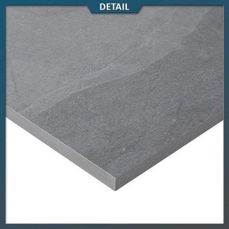 Keramische tegel mustang slate black 45x90x2 cm (leisteen look)