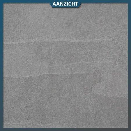 Keramische tegel mustang slate light 60x60x2 cm (leisteen look)