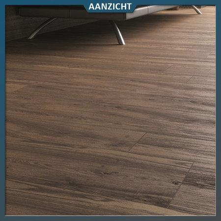 Castelvetro Keramische tuintegel houtlook Rustic Nut 30x160x2 cm