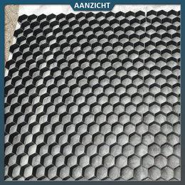 Natuursteenvoordelig Grindplaat zwart 120x80x3 cm