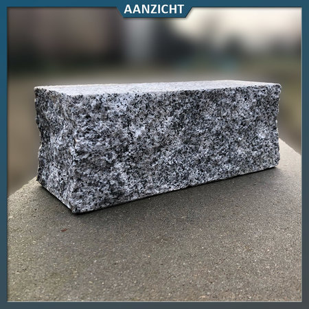Natuursteenvoordelig Palissade Graniet Grijs Extra 12x12 cm