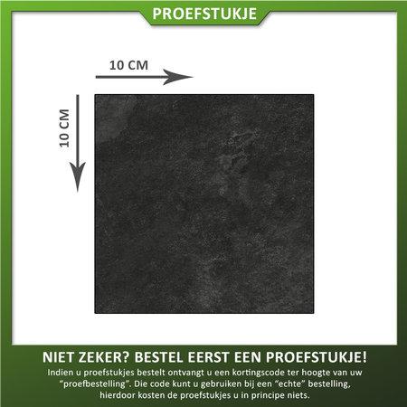 Castelvetro Proefstuk Keramische tuintegel Interiorstone Nero