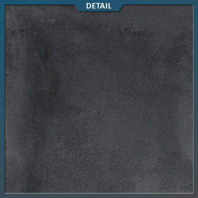 Castelvetro Keramische tegel Land Black 80x80x2 cm