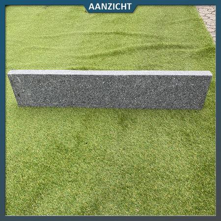 Natuursteenvoordelig Opsluitband Graniet blauw/antra gevlamd
