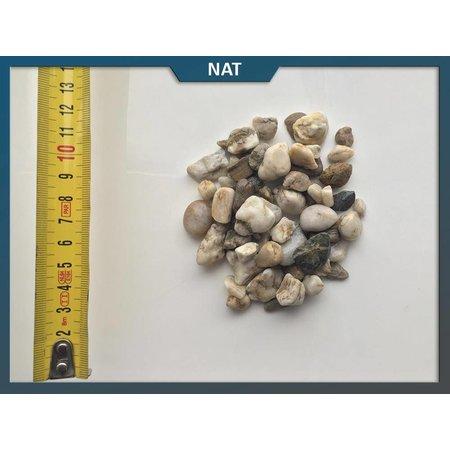 Natuursteenvoordelig Limburgs wit grind 8-16 mm