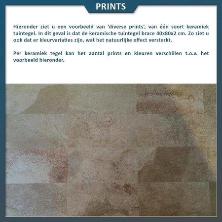 Natuursteenvoordelig Keramische tegel Brace 40x80,6x2 centimeter
