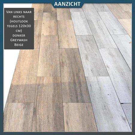 COTTO D'ESTE Keramische tegel houtlook Donker 120x30x2 cm (Cotto d'Este)